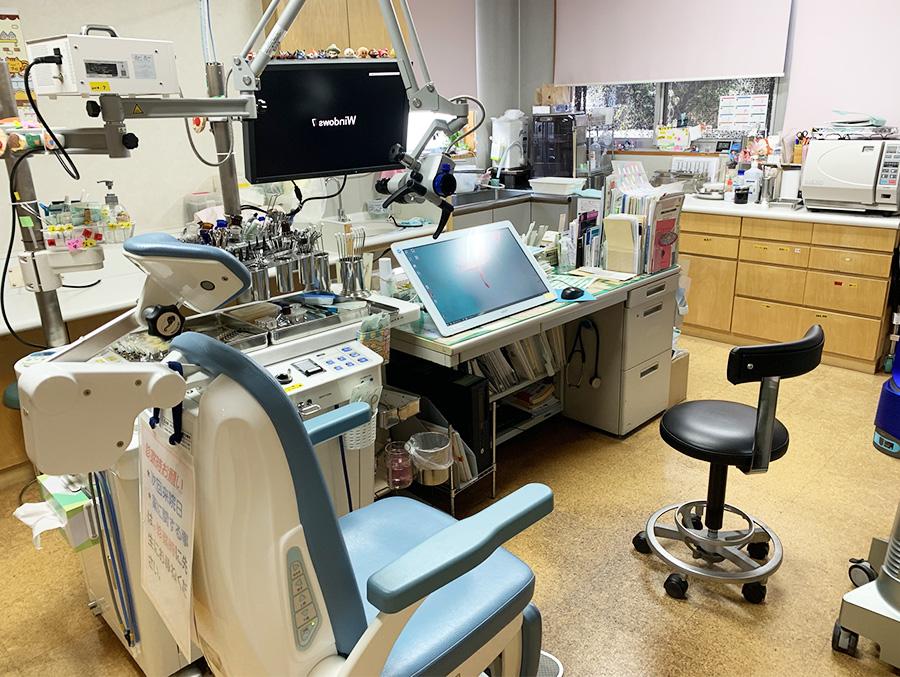 かげ耳鼻咽喉科医院の診察室