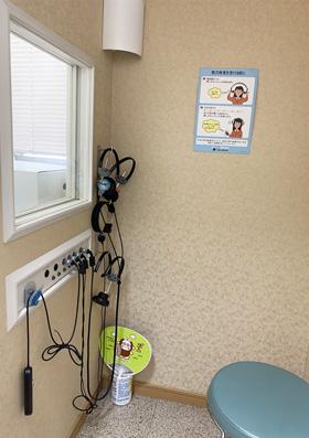 かげ耳鼻咽喉科医院の聴力検査室3
